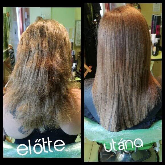 Keratinos hajfeltöltés